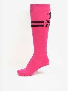 Růžové dámské podkolenky Sock It to Me Pink Badass