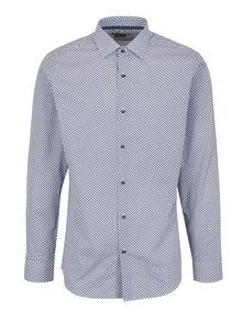 Modro-bílá pánská vzorovaná formální košile Seven Seas Utah