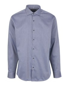 Modrá pánská formální košile s jemným vzorem Seven Seas Idaho Florid