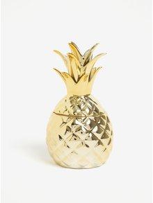 Ananas na šperky ve zlaté barvě Sass & Belle