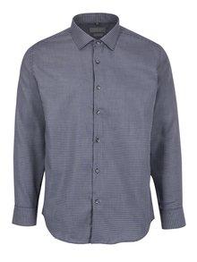 Sivá pánska vzorovaná formálna košeľa Seven Seas Kansas