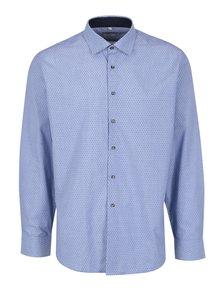 Světle modrá pánská vzorovaná formální košile Seven Seas