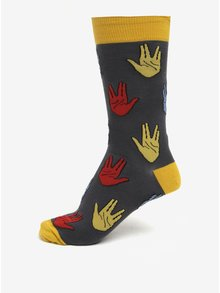 Sosete barbatesti cu print gri & galben - Sock It to Me Salutations