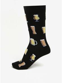 Černé pánské vzorované ponožky Sock It to Me Prost