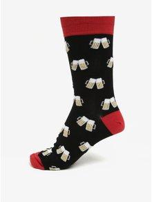 Červeno-černé pánské vzorované ponožky Sock It to Me Cheers