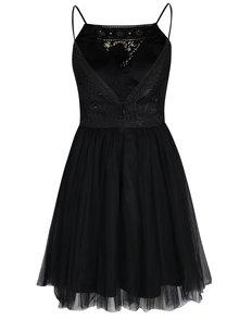 Čierne šaty s tylovou sukňou Chi Chi London Terrie