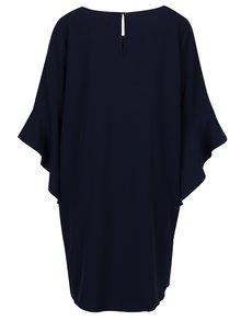 Tmavomodré voľné šaty s volánikovým rukávom Apricot