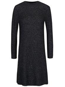 Šedo-černé žíhané svetrové šaty ONLY Leo