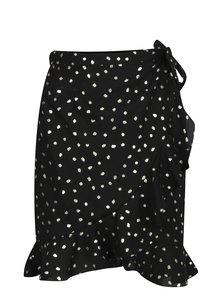 Čierna zavinovacia sukňa s potlačou VERO MODA Henna