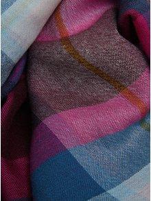 Vínový dámský vlněný kostkovaný šátek Joule Julianne