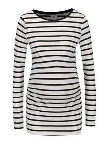 Bluza lunga crem deschis & negru cu print in dungi - Mama.licious Alabama