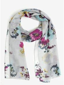 Šedý dámský vlněný květovaný šátek Tom Joule Julianne