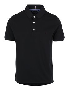 Černé pánské polo tričko Tommy Hilfiger Luxury