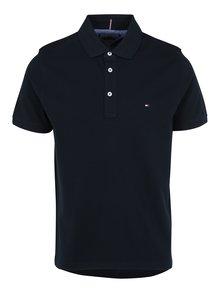 Tmavě modré pánské polo tričko Tommy Hilfiger Luxury