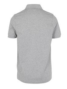 Šedé pánské žíhané polo tričko Tommy Hilfiger Luxury