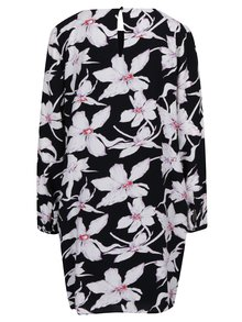 Krémovo-černé květované šaty VERO MODA July