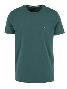 Tmavě zelené pánské tričko Tommy Hilfiger New Stretch