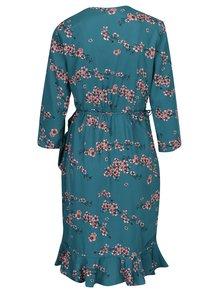 Zelené kvetované zavinovacie šaty VERO MODA Henna