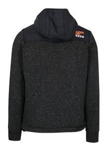 Jacheta matlasata si tricotata neagra pentru barbati  Superdry Hybrid