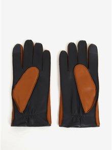 Hnedé pánske kožené rukavice Tommy Hilfiger