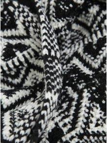 Čierny vzorovaný šál s prímesou vlny O'Neill