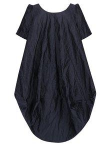 Tmavomodré trblietavé balónové šaty s vreckami Bianca Popp