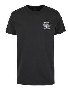 Černé pánské modern fit tričko s potiskem na zádech Quiksilver Garment Dye Dead Flat