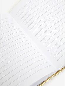 Zápisník v zlatej farbe s kľúčom a zámkom CGB