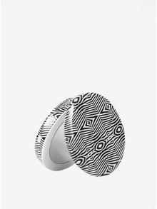 Bielo-čierna power banka so zrkadielkom Hyper Pearl Mini