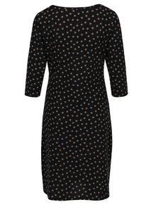 Čierne bodkované šaty s riasením na bokoch Smashed Lemon