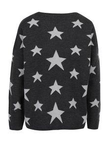 Tmavosivý vzorovaný sveter Jacqueline de Yong Noel