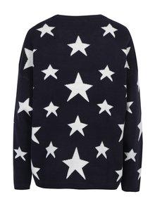 Tmavomodrý vzorovaný sveter Jacqueline de Yong Noel