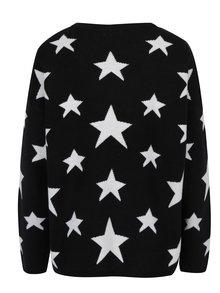 Černý vzorovaný svetr Jacqueline de Yong Noel