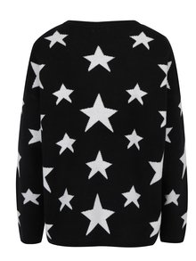 Čierny vzorovaný sveter Jacqueline de Yong Noel