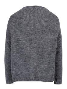 Sivý sveter s kamienkami ONLY Siv