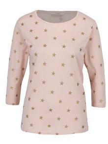 Světle růžové tričko s potiskem hvězd ONLY Bone