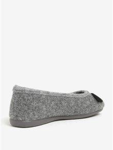 Papuci de casa gri cu aspect de urs koala pentru femei - OJJU