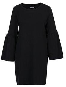 Rochie neagra tricotata fin cu maneci clopot si decolteu rotund - Jacqueline de Yong Provel