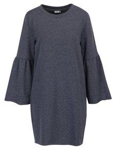 Rochie tricotata fin gri melanj cu maneci clopot -  Jacqueline de Yong Provel