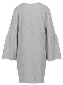 Svetlosivé mikinové melírované šaty Jacqueline de Yong Provel
