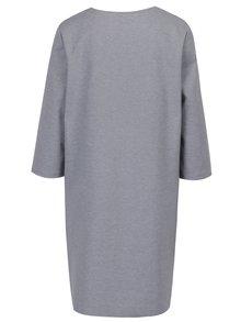 Sivé melírované mikinové šaty ONLY Nadia