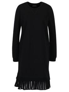 Černé mikinové šaty s volánem Maison Scotch