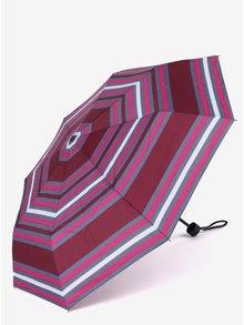Šedo-vínový dámský skládací deštník s.Oliver