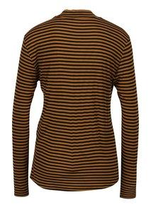 Hnedé pruhované tričko Jacqueline de Yong Spirit