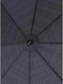 Šedý vzorovaný pánský vystřelovací deštník Doppler
