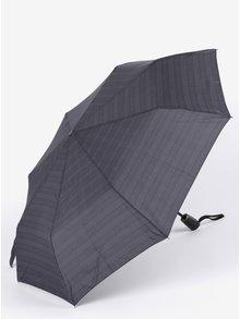 Sivý vzorovaný pánsky vystreľovací dáždnik Doppler