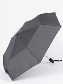 Šedo-černý vzorovaný pánský vystřelovací deštník Derby