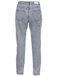 Modro-krémové žíhané mom džíny s vysokým pasem VERO MODA Nineteen