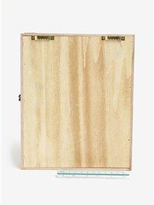 Hnedá drevená skrinka na kľúče SIFCON