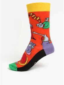 Sosete multicolore unisex cu print - Happy Socks Monsters